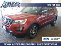 Certified. Ruby Red Metallic 2016 Ford Explorer Sport