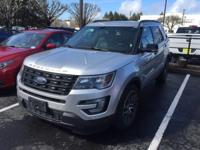 2016 Ford Explorer Sport in Ingot Silver Metallic,