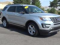 Silver 2016 Ford Explorer XLT FWD 6-Speed Automatic