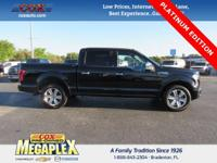 This 2016 Ford F-150 Platinum in Shadow Black is well