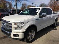 CARFAX One-Owner. White 2016 Ford F-150 Platinum 4WD