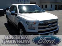 Options:  2016 Ford F-150 King Ranch|White Platinum