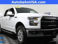 Oxford White 2016 Ford F-150 Lariat 4WD 6-Speed