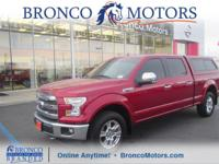Red 2016 Ford F-150 Lariat 4WD 6-Speed Automatic
