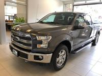 One-Owner. Clean CARFAX. Gray 2016 Ford F-150 Lariat