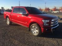 Options:  2016 Ford F-150 Platinum Supercrew 6.5-Ft.