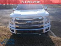 White 2016 Ford F-150 Platinum 4WD 6-Speed Automatic