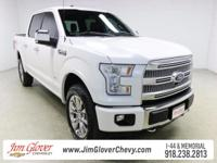Drive home this 2016 Ford F-150 Platinum in White