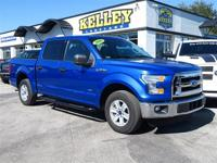 This 2016 Ford F150 XLT has a 2.7L V6 Eco Boost engine,