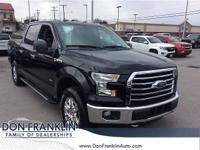 CARFAX One-Owner. Black 2016 Ford F-150 4WD 6-Speed