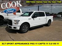 Oxford White 2016 Ford F-150 XLT RWD 6-Speed Automatic