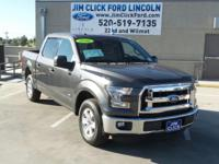 This 2016 Ford F-150 XLT, has a great Sterling Gray