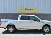 CARFAX One-Owner. Silver 2016 Ford F-150 XLT SuperCrew
