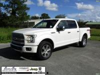 CARFAX One-Owner. White 2016 Ford F-150 XLT 4WD 6-Speed