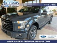 Certified. Lithium Gray 2016 Ford F-150 XLT 4WD 6-Speed