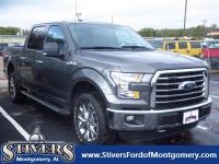 CARFAX One-Owner. Gray 2016 Ford F-150 XLT 4WD 6-Speed
