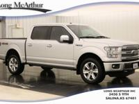 Silver 2016 Ford F-150 Platinum 4WD 6-Speed Automatic