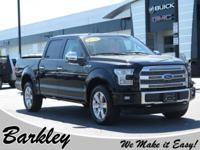 CARFAX One-Owner. Black 2016 Ford F-150 Platinum 4WD
