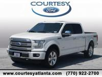 This 2016 Ford F-150 Platinum in White Platinum