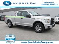 CARFAX One-Owner. Silver 2016 Ford F-150 XL 4WD 6-Speed