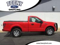Certified. Race Red 2016 Ford F-150 XL 4WD 6-Speed