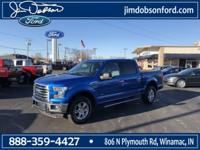 New Price! 2016 Ford F-150 Blue Flame Metallic XLT ONE