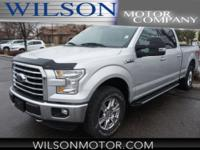 CARFAX One-Owner. Silver 2016 Ford F-150 XLT 4WD