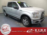 This 2016 Ford F-150 XLT Crew Cab is Ingot Silver