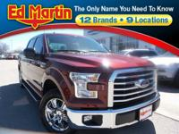 CLEAN CARFAX! 2016 Ford F-150 XLT RWD 6-Speed Automatic