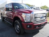 CARFAX One-Owner. Clean CARFAX. Red 2016 Ford F-250SD