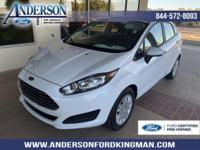 Certified. Oxford White 2016 Ford Fiesta S FWD 6-Speed