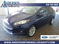 Certified. Kona Blue Metallic 2016 Ford Fiesta SE FWD