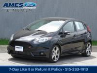 Charming in Shadow Black, our 2016 Ford Fiesta ST is a