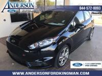 Certified. Shadow Black 2016 Ford Fiesta ST FWD 6-Speed
