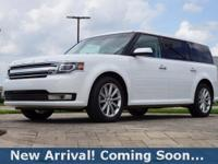 2016 Ford Flex Limited in Oxford White, This Flex comes