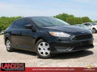CARFAX One-Owner. Shadow Black 2016 Ford Focus S FWD