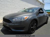 Clean CARFAX. Grey 2016 Ford Focus S FWD 2.0L