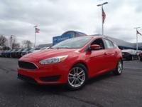 Clean CARFAX. Red 2016 Ford Focus SE FWD Automatic 2.0L