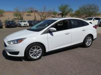Options:  2016 Ford Focus Se|White|New Price! Carfax