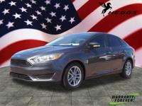 CARFAX One-Owner. Gray 2016 Ford Focus SE FWD 6-Speed