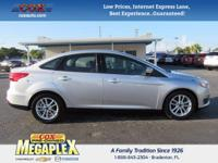 This 2016 Ford Focus SE in Ingot Silver is well
