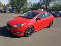 Clean CARFAX. Red 2016 Ford Focus SE FWD 2.0L