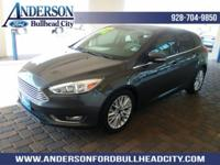 Gray 2016 Ford Focus Titanium FWD 6-Speed Automatic