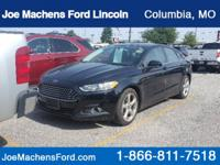 CARFAX One-Owner. Black 2016 Ford Fusion S FWD 6-Speed