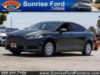 Sleek and stylish, our 2016 Ford Fusion S Sedan is