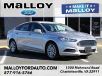 CARFAX One-Owner. 2016 Ford Fusion SE Ingot Silver FWD