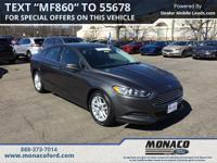 CARFAX One-Owner. Certified. Gray 2016 Ford Fusion SE