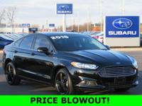 New Price! 2016 Ford Black AWD Fusion SE AWD 6-Speed