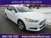 Options:  2016 Ford Fusion Se|White|Rear-View Camera!