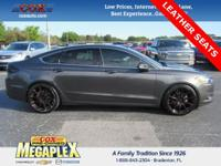This 2016 Ford Fusion SE in Tectonic is well equipped